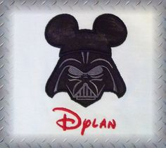 Disney Darth Vader Mickey Star Wars Shirt - Fun for Disney Family Vacation. $23.00, via Etsy.