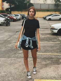 ♥ 43 spring outfits for teen girls 1 Denim Skirt Outfits, Black Dress Outfits, Casual Outfits, Fashion Outfits, Denim Skirts, Casual Jeans, Spring Outfits For Teen Girls, Outfits For Teens, Summer Outfits