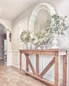 Awesome Useful Ideas: Small Living Room Remodel Colour living room remodel with fireplace stacked stones.Living Room Remodel Ideas Staircases living room remodel before and after half baths.Living Room Remodel On A Budget Unfinished Basements. French Country Bedrooms, French Country Decorating, Living Room Remodel, Living Room Decor, Entry Tables, Long Entryway Table, White Entry Table, Rustic Entry Table, Entryway Stairs