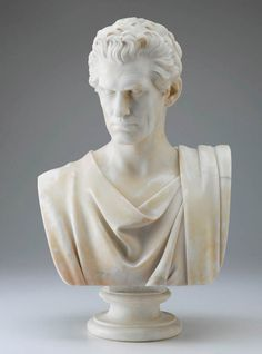 John C. Calhoun (1782-1850), Hiram Powers, originally modeled 1835, carved 1859, Presented to the State of North Carolina by Wharton Jackson Green, 1861; transferred to the North Carolina Museum of Art, 1956
