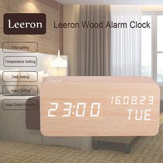Cool Wooden LED Digital Alarm Clock