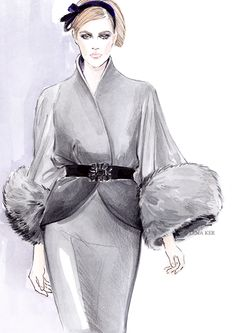 Fashion illustration by Lena Ker.