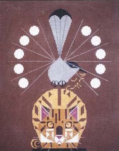 Charley Harper Needlepoint<BR>Catnip (Out of Stock)
