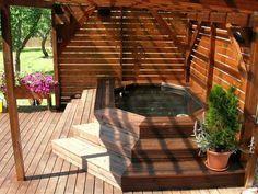 Résultat d'image pour le spa stock tank - New Ideas Hot Tub Patio, Outdoor Bathtub, Hot Tub Gazebo, Outdoor Sauna, Hot Tub Garden, Hot Tub Privacy, Casa Patio, Pergola Patio, Jacuzzi