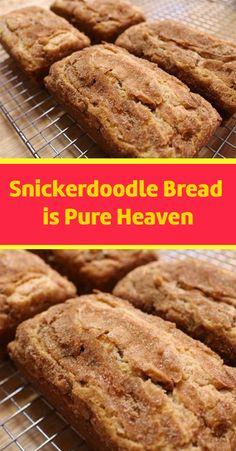 Snickerdoodle Bread is Pure Heaven – Fresh Family Recipes Bread Machine Recipes, Easy Bread Recipes, Sweet Recipes, Cooking Recipes, Quick Bread, Pan Dulce, Delicious Desserts, Dessert Recipes, Yummy Food