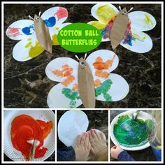 multicraftingmummy: Cotton Wool Ball Butterflies