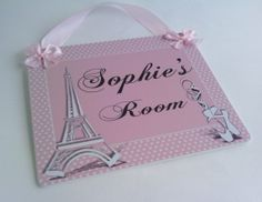 personalized eiffel tower and ballet slippers door by kasefazem, $16.99