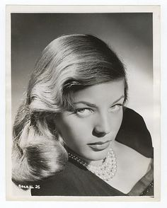 "Lauren Bacall. ""You know how to whistle, don't you, Steve? You just put your lips together and... blow."" #RIP"