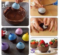 Make a chocolate bowl