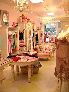nice closet idea...looks like a boutique