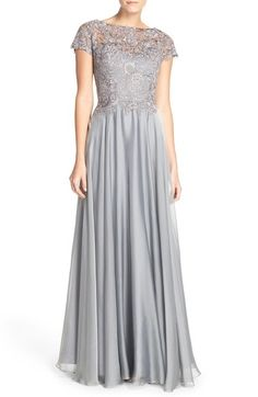 La Femme Embellished Lace & Satin Ballgown available at #Nordstrom