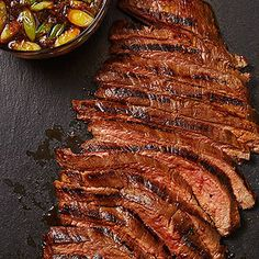 30 Healthy Grilling Sauces, Rubs, and Marinades: Rachael Ray Add major flavor to steak, chicken, fish and more. Our easy-to-make seasonings make every bite more satisfying! Flank Steak Recipes, Beef Recipes, Real Food Recipes, Cooking Recipes, Water Recipes, Grilled Fish Recipes, Healthy Grilling Recipes, Grilling Ideas, Healthy Sauces