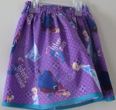 Love this skirt! Maybe for the Easter Basket...Disney's Frozen Little Girl's Skirt by LeighMarieBoutique on Etsy, $12.00