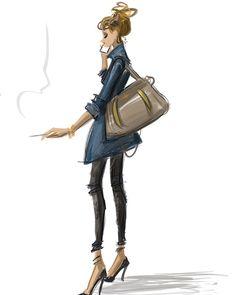 Ma veste en jean. #illustration #digital #ipadpro #illustrationoftheday #lifestyle #fashion #parisienne #zadigetvoltaire #choo