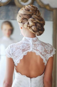 braided updo & open lace