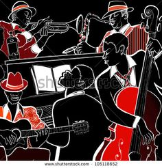 watercolor jazz band - Google Search