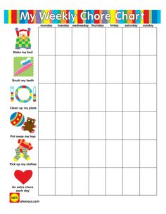 Reward your little one for completing chores by printing out this great chart from ALEX Toys!.png 691×895 pixels