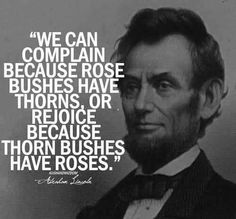 be grateful - Honest Abe!