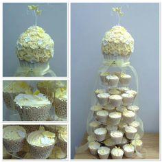 Giant Wedding Cupcake 😊 #giantcupcake #weddingcake