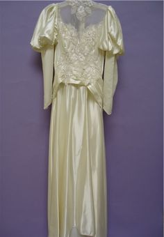 Wedding gowns not preserved properly will yellow and get dingy - Clean and preserve your gown right away