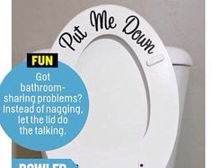 Put Me Down Toilet Decal - As Seen in Cosmopolitan Magazine