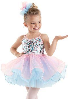 Glitter Curly Hem Ballet Dress -Weissman Costumes