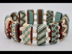 In this video I'm showing how I add a strip of bead weaving ( Peyote Stitch with size 8 seed beads ) to a Polymer Clay bracelet. Jewelry Patterns, Bracelet Patterns, Beading Patterns, Peyote Patterns, Seed Bead Tutorials, Beading Tutorials, Beaded Jewelry, Beaded Bracelets, Stretch Bracelets