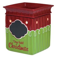 Tis the #Season Full-Size Scentsy Warmer PREMIUM #Christmas warmer  This regularly priced warmer at $35, is on sale for $14 only for a limited time! only through 7/6/15! www.wicklessleslie.com