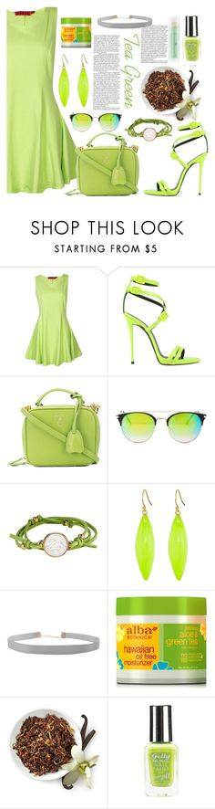 """""""Tea Green // For Fifty shades of green """"Tea"""" Contest"""" by bleesot ❤ liked on Polyvore featuring Giuseppe Zanotti, Mark Cross, Lucky Brand, Asha by ADM, Alexis Bittar, Humble Chic, Alba Botanica and Barry M"""