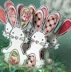 Petits lapins - modèle Patch lapins