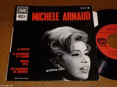 """French 45t EP (7"""") MICHELE ARNAUD je croyais """"Yesterday"""" The Beatles (Languette)"""