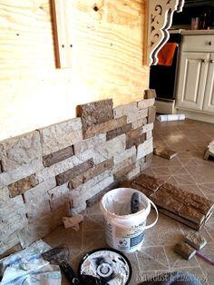 Adding stone veneer