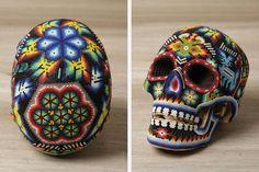 huichol beaded skull