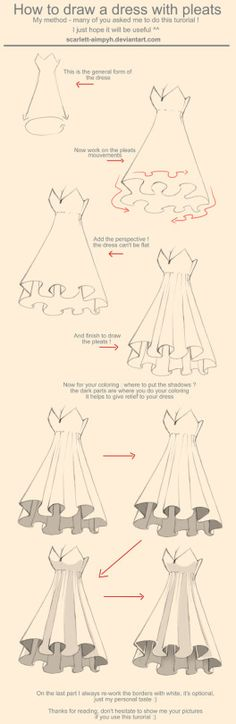 Manga Drawing Tips How to Art More - Drawing Techniques, Drawing Tips, Drawing Reference, Drawing Sketches, Cool Drawings, Sketching, Drawing Ideas, Manga Drawing Tutorials, Dress Drawing