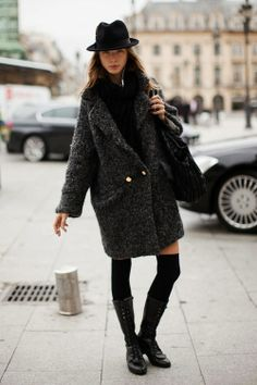 big coat and my fedora