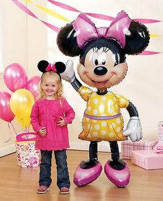 "Jumbo Minnie Mouse Airwalker 54"" Birthday Foil Balloon Decoration Party Supplies"