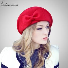 Female England British Australian Wool Felt Beret Hat Women Lady French Artist Red Black Flat Cap Bow Boina Feminino Oh just take a look at this! Fashion 2017, Diy Fashion, Fashion Trends, Fashion Hats, Ladies Fashion, Fashion Poses, Unique Fashion, All About Fashion, Passion For Fashion