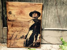 Clint Eastwood Western Wooden Picture Home Decor Wall Decor