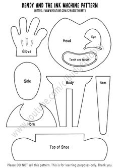 Bendy and the Ink Machine Coloring Page - √ 32 Bendy and the Ink Machine Coloring Page , 15 Bendy and the Ink Machine Coloring Pages Printable Bendy And The Ink Machine, 8th Birthday, Birthday Party Themes, Costume Patterns, Sewing Patterns, Diy And Crafts, Crafts For Kids, Plushie Patterns, Diy Costumes