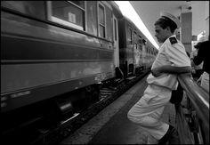 Ferdinando Scianna. Brindisi, Italy: rail station