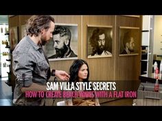Learn How To Create Loose Beach Waves With a Flat Iron - Video | Sam Villa