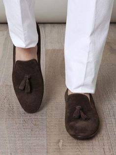 Handmade men brown color tassel shoes, suede shoes, men brown shoes, casual suede moccasins shoes sold by Rangoli Collection. Shop more products from Rangoli Collection on Storenvy, the home of independent small businesses all over the world. Handmade Leather Shoes, Suede Leather Shoes, Leather Moccasins, Leather Men, Leather Tassel, Leather Jackets, Real Leather, Brown Loafers, Loafers Men