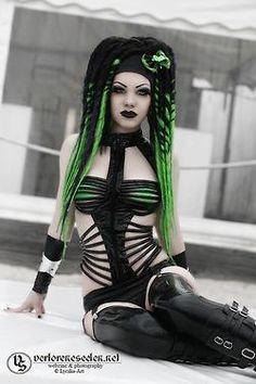 Cyberpunk Goth Hybrid Fashion