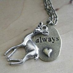 The cutest online HP store in world history. Doe/Always necklace.