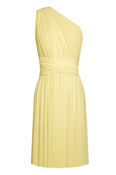 ebcc00cfa9 Infinity bridesmaids dress Light yellow convertible knee length dress Plus  size prom evening formal dress XS S M L XL 0XL 1XL 2XL 3XL 4XL 5XL by EK