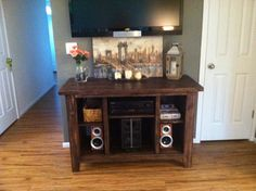 Entertainment center completed