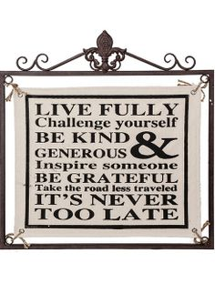 'Live Fully' Canvas Wall Art