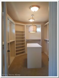 Honey We're Home: Painted Closet Island | CraftPro's Take: We love the paint job and the design of this very large closet.