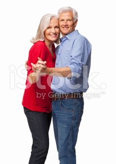 Happy Couple Dancing - Isolated royalty-free stock photo