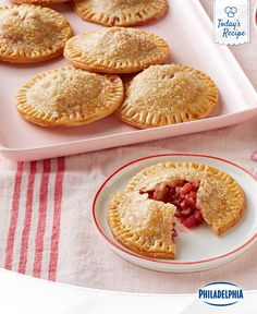 These mini strawberry rhubarb pies are delicious. The best part is you don't have to share!